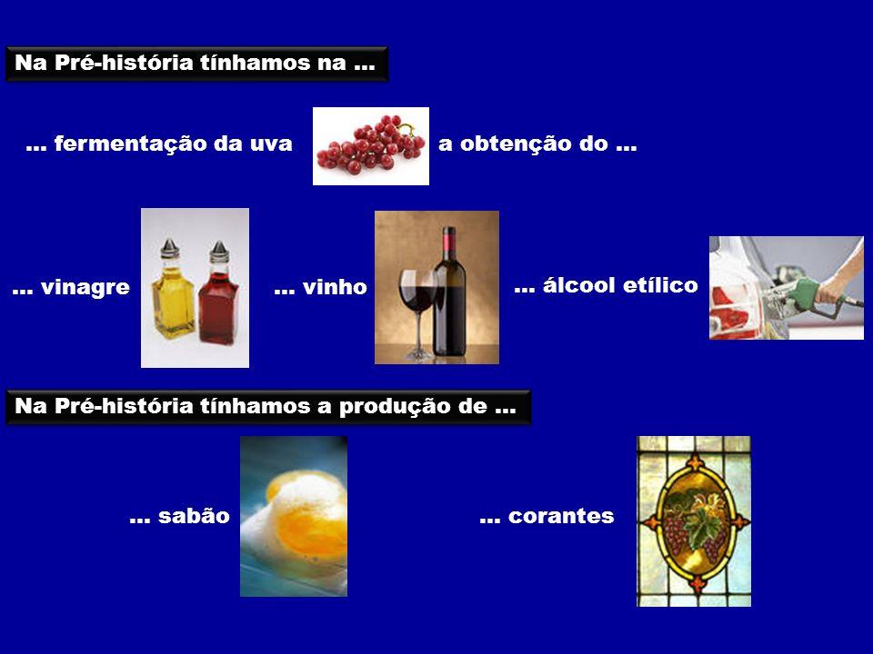 ... fermentação da uva a obtenção do...... vinagre... vinho... álcool etílico Na Pré-história tínhamos na... Na Pré-história tínhamos a produção de...