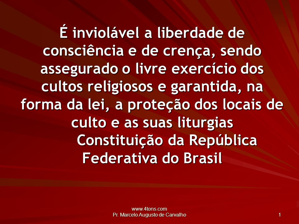 www.4tons.com Pr.Marcelo Augusto de Carvalho 22 A vida é como um jogo de cartas.