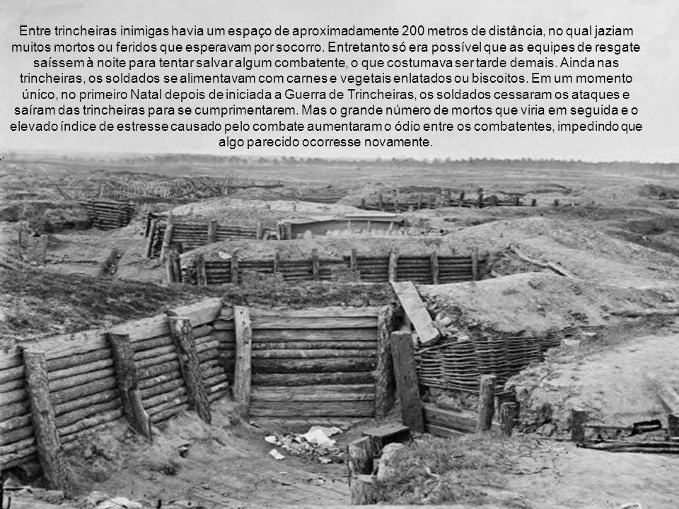 Entre trincheiras inimigas havia um espaço de aproximadamente 200 metros de distância, no qual jaziam muitos mortos ou feridos que esperavam por socor