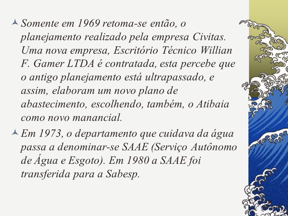 Somente em 1969 retoma-se então, o planejamento realizado pela empresa Civitas. Uma nova empresa, Escritório Técnico Willian F. Gamer LTDA é contratad