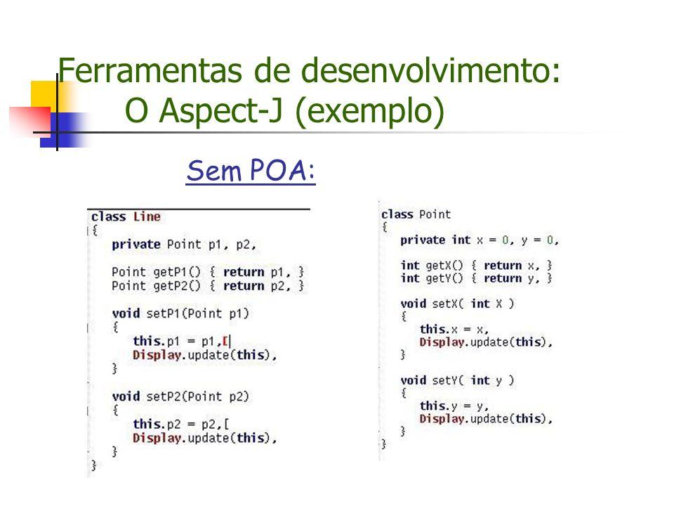 Ferramentas de desenvolvimento: O Aspect-J (exemplo) Sem POA:
