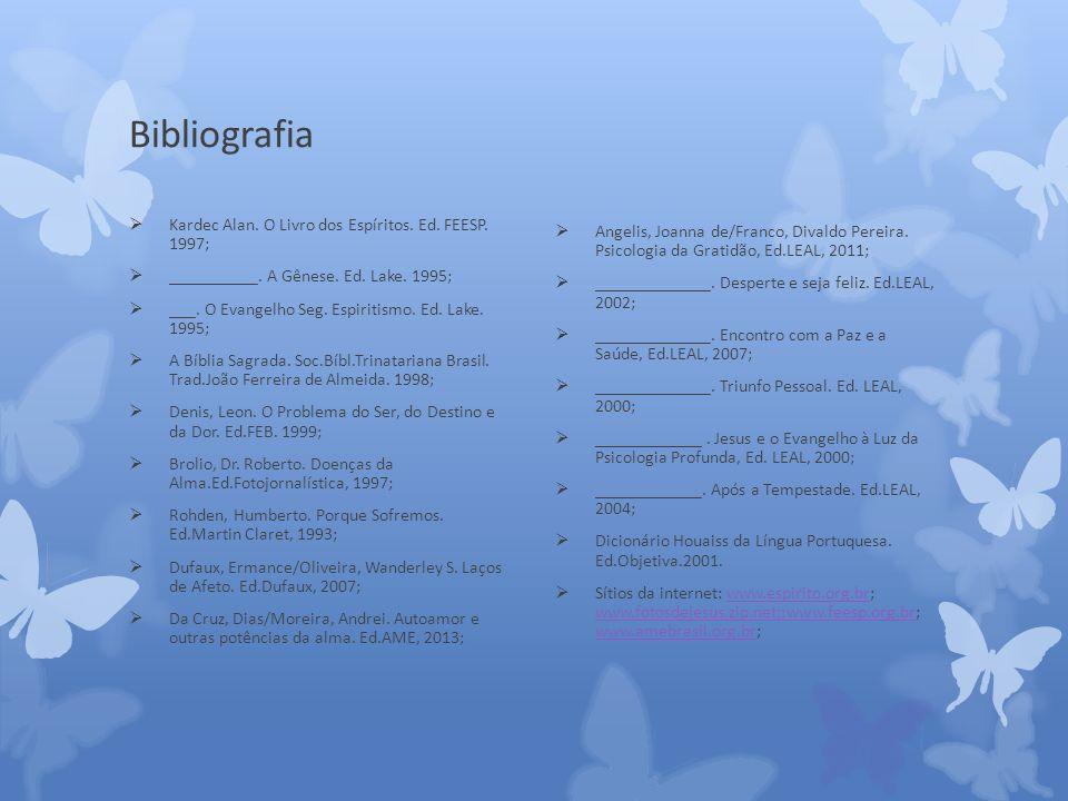 Bibliografia Kardec Alan.O Livro dos Espíritos. Ed.