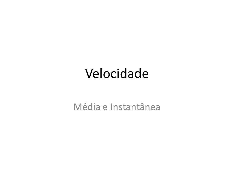 Velocidade Média e Instantânea