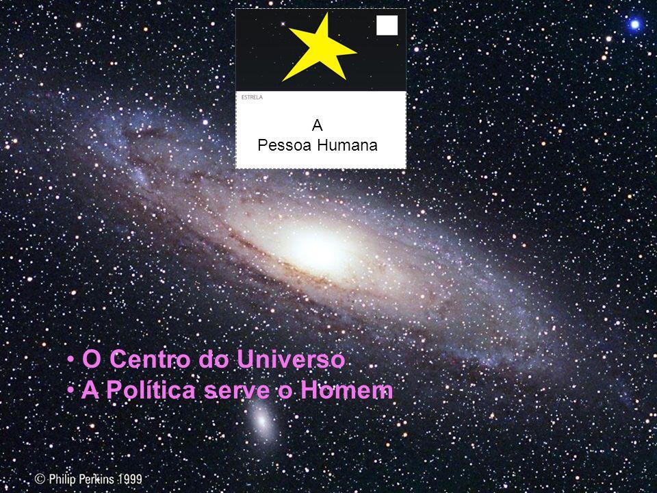 A Pessoa Humana O Centro do Universo A Política serve o Homem