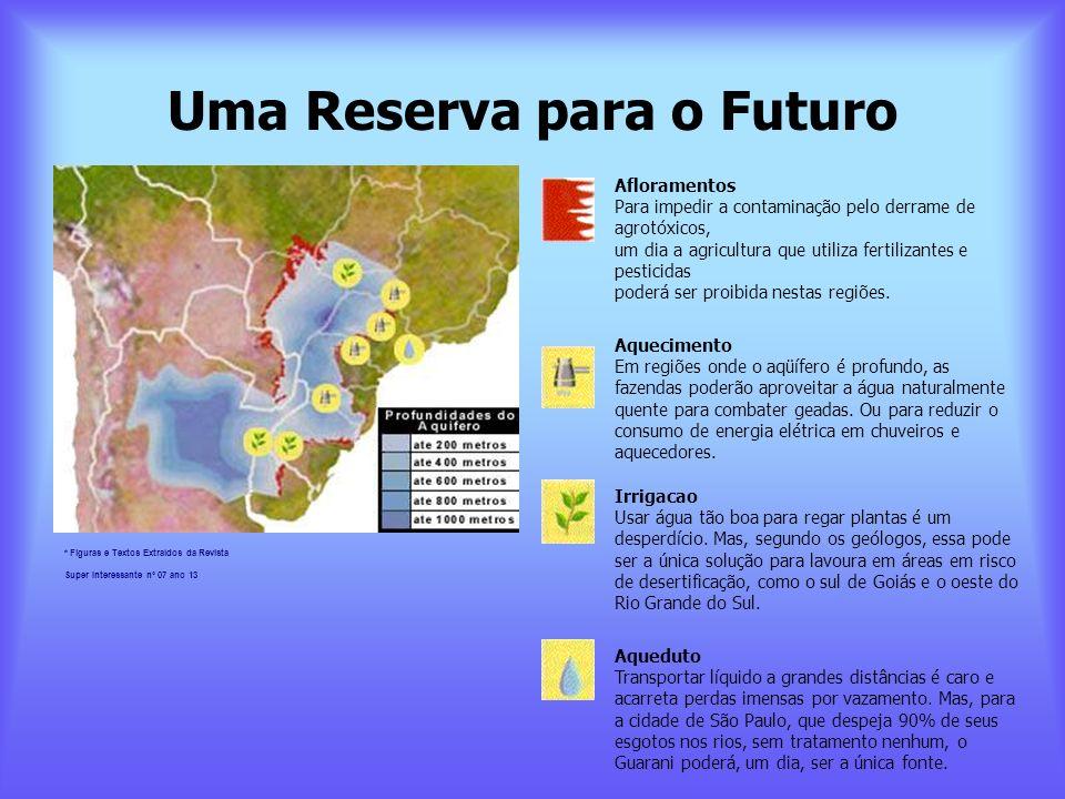Uma Reserva para o Futuro Afloramentos Para impedir a contaminação pelo derrame de agrotóxicos, um dia a agricultura que utiliza fertilizantes e pesti