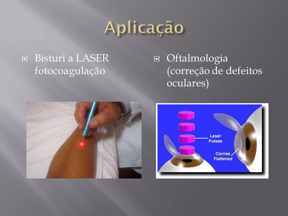 Bisturi a LASER fotocoagulação Oftalmologia (correção de defeitos oculares)