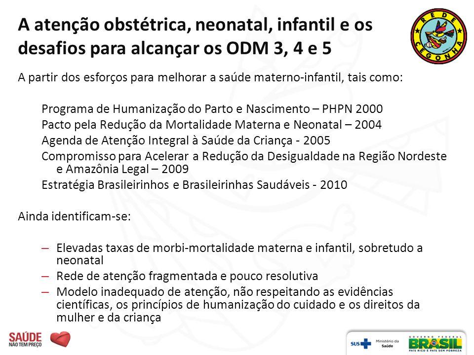 A atenção obstétrica, neonatal, infantil e os desafios para alcançar os ODM 3, 4 e 5 A partir dos esforços para melhorar a saúde materno-infantil, tai