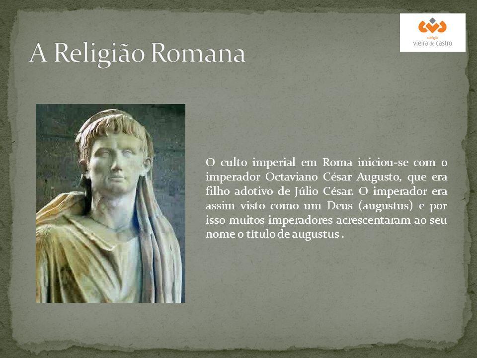O culto imperial em Roma iniciou-se com o imperador Octaviano César Augusto, que era filho adotivo de Júlio César. O imperador era assim visto como um