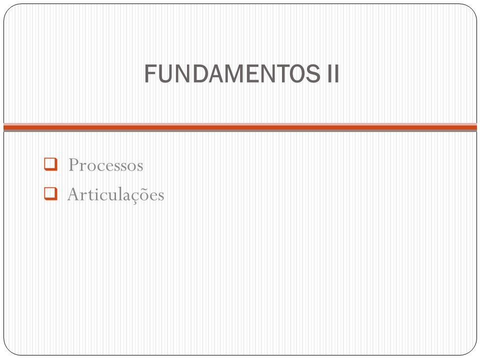 FUNDAMENTOS II Processos Articulações