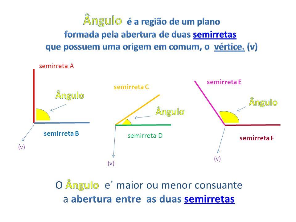 semirreta A semirreta B semirreta D semirreta C semirreta E semirreta F (v)