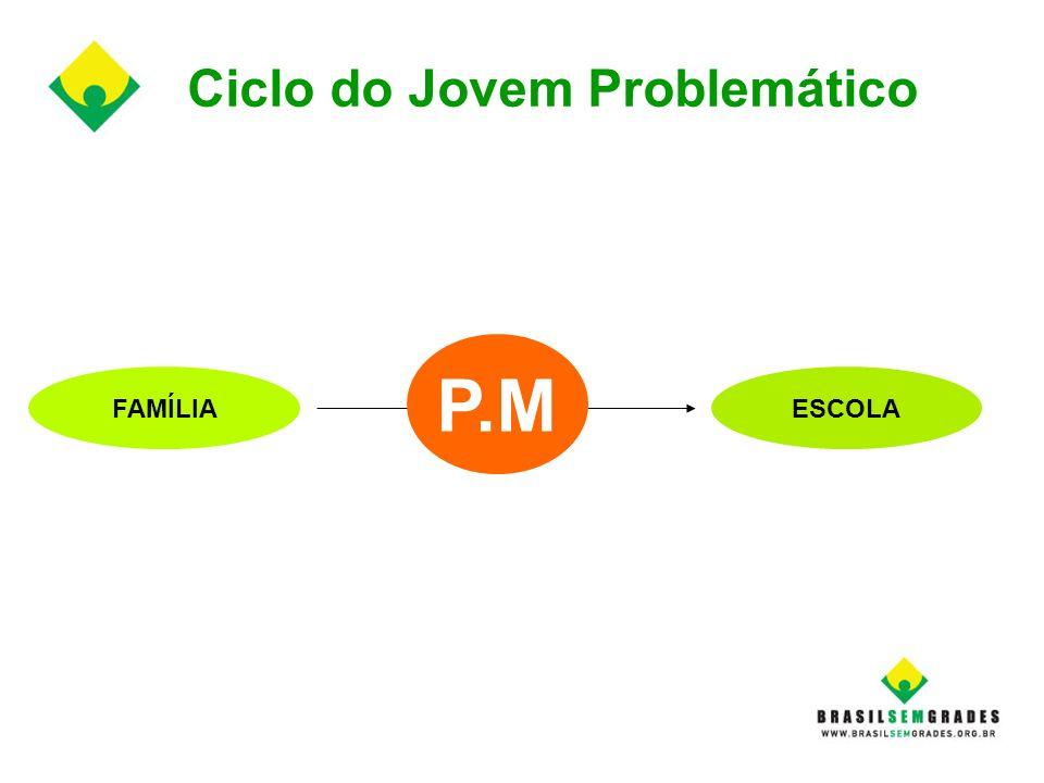 Ciclo do Jovem Problemático FAMÍLIAESCOLA P.M