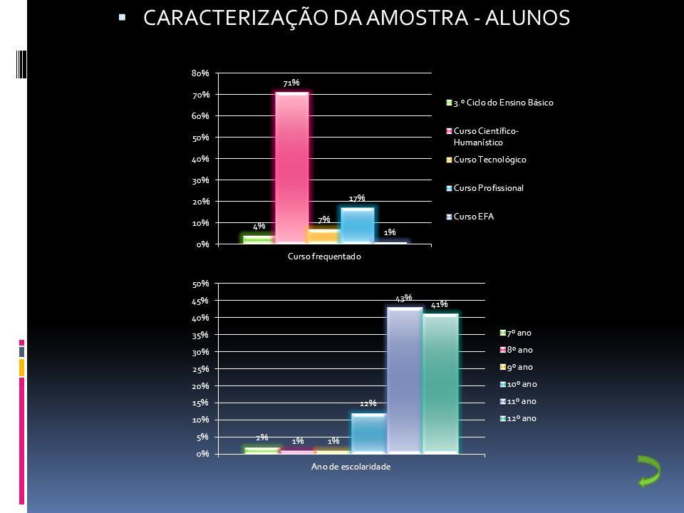 CARACTERIZAÇÃO DA AMOSTRA - PROFESSORES