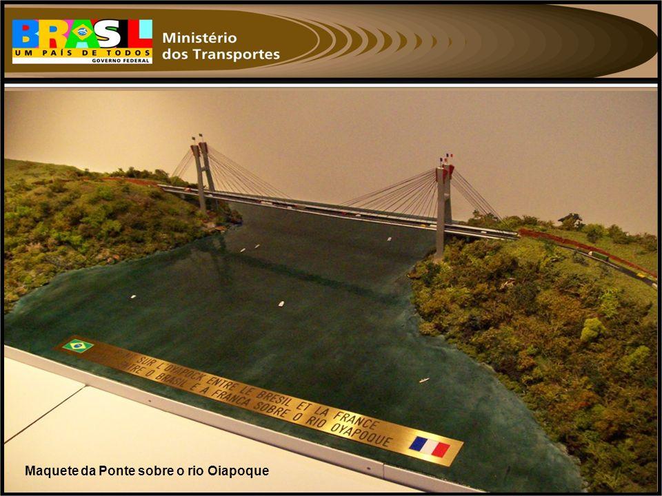 Maquete da Ponte sobre o rio Oiapoque