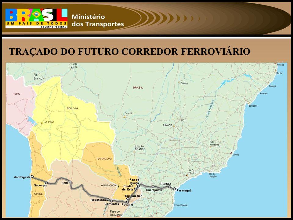 TRAÇADO DO FUTURO CORREDOR FERROVIÁRIO