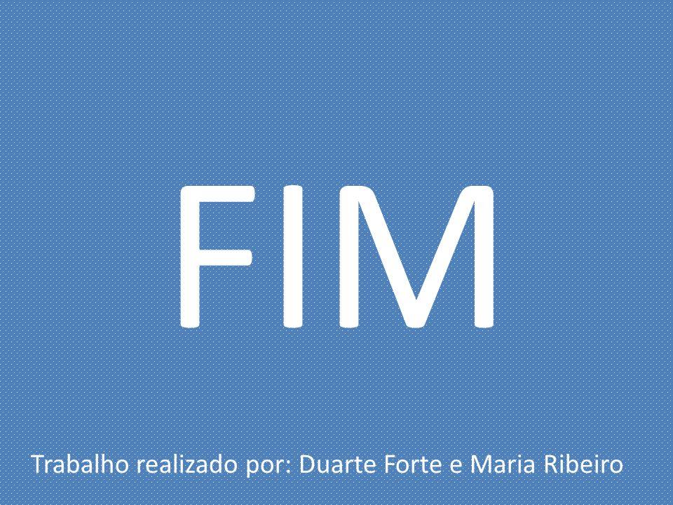 FIM Trabalho realizado por: Duarte Forte e Maria Ribeiro