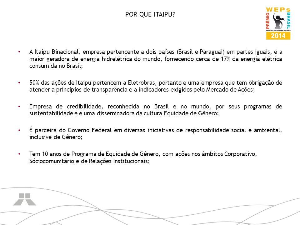 POR QUE ITAIPU? A Itaipu Binacional, empresa pertencente a dois países (Brasil e Paraguai) em partes iguais, é a maior geradora de energia hidrelétric