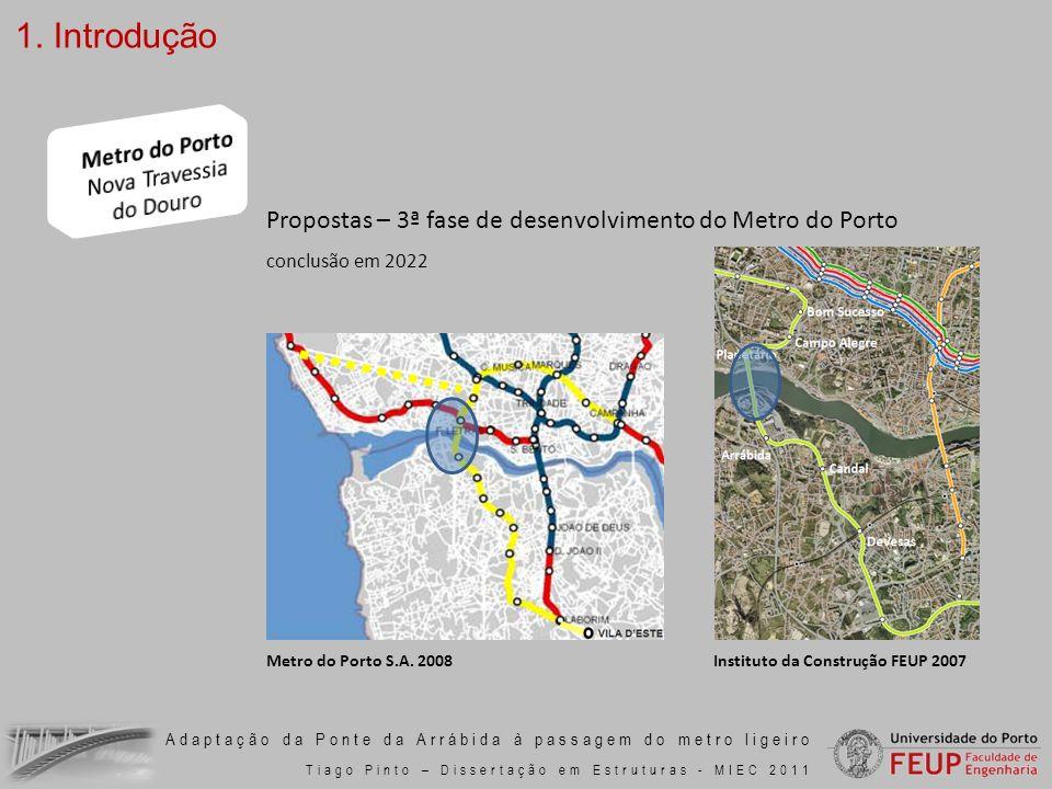 Adaptação da Ponte da Arrábida à passagem do metro ligeiro Tiago Pinto – Dissertação em Estruturas - MIEC 2011 7.