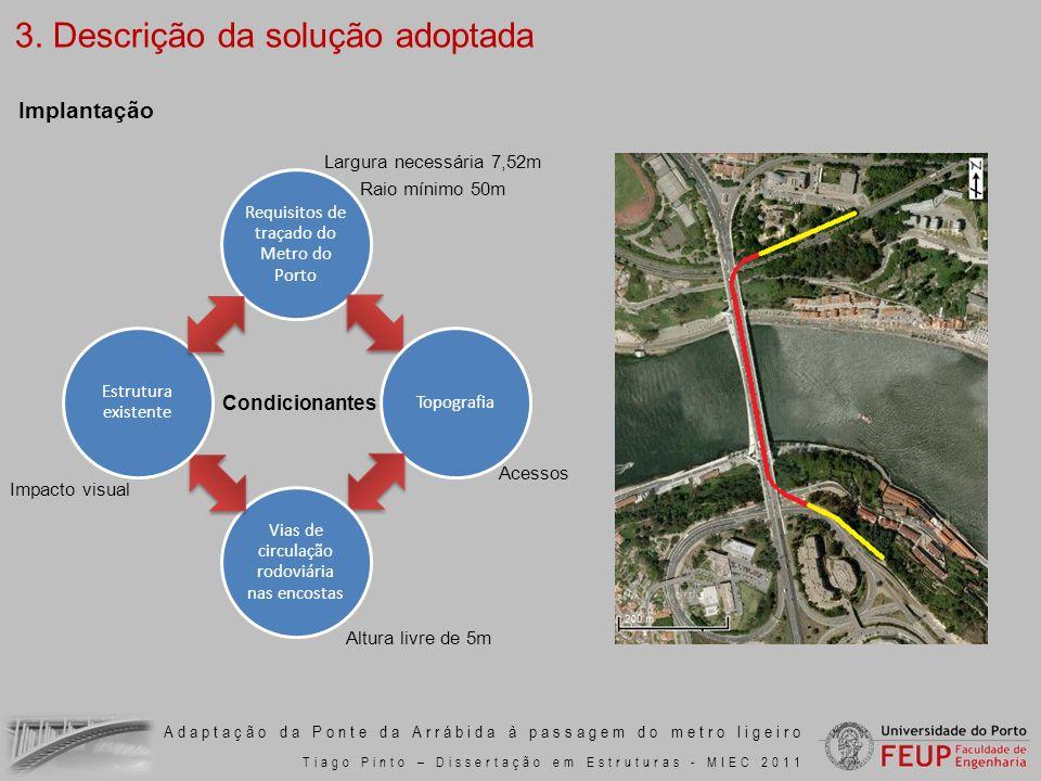 Adaptação da Ponte da Arrábida à passagem do metro ligeiro Tiago Pinto – Dissertação em Estruturas - MIEC 2011 Requisitos de traçado do Metro do Porto