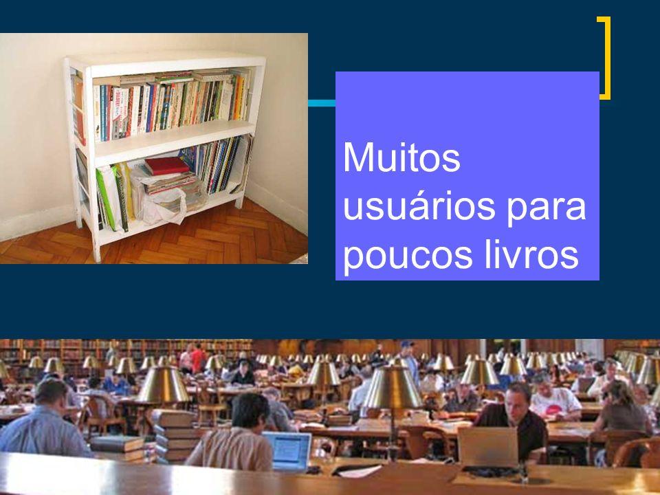 Muitos usuários para poucos livros