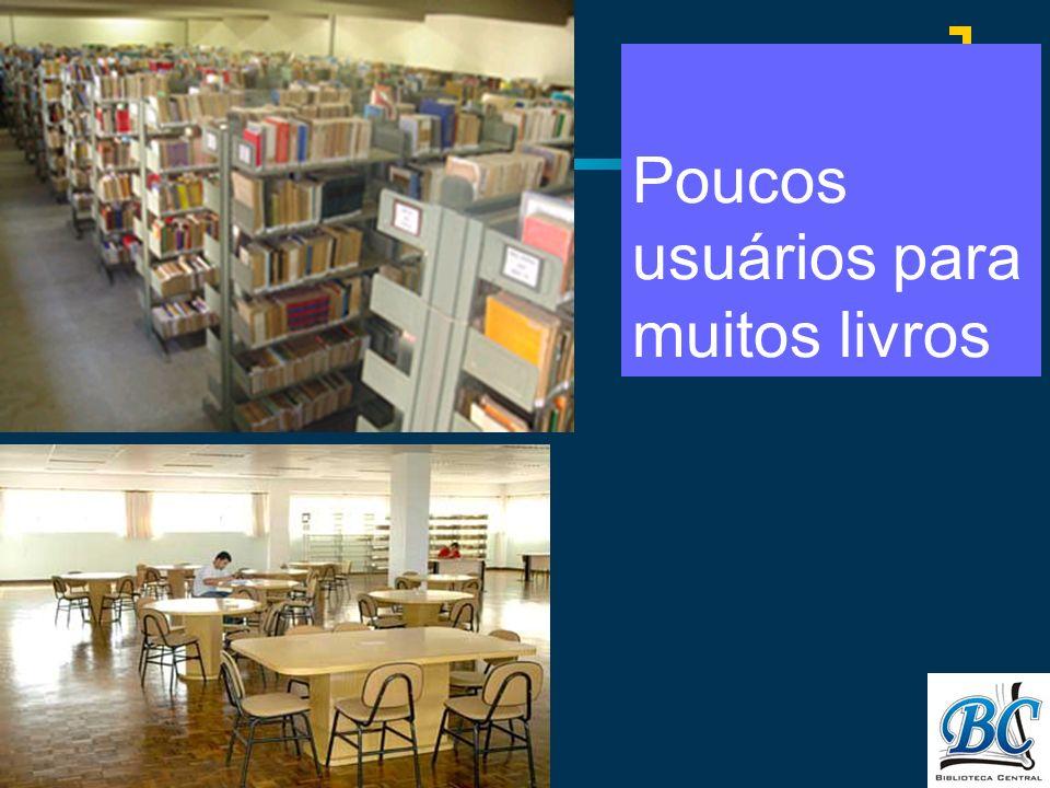 Poucos usuários para muitos livros