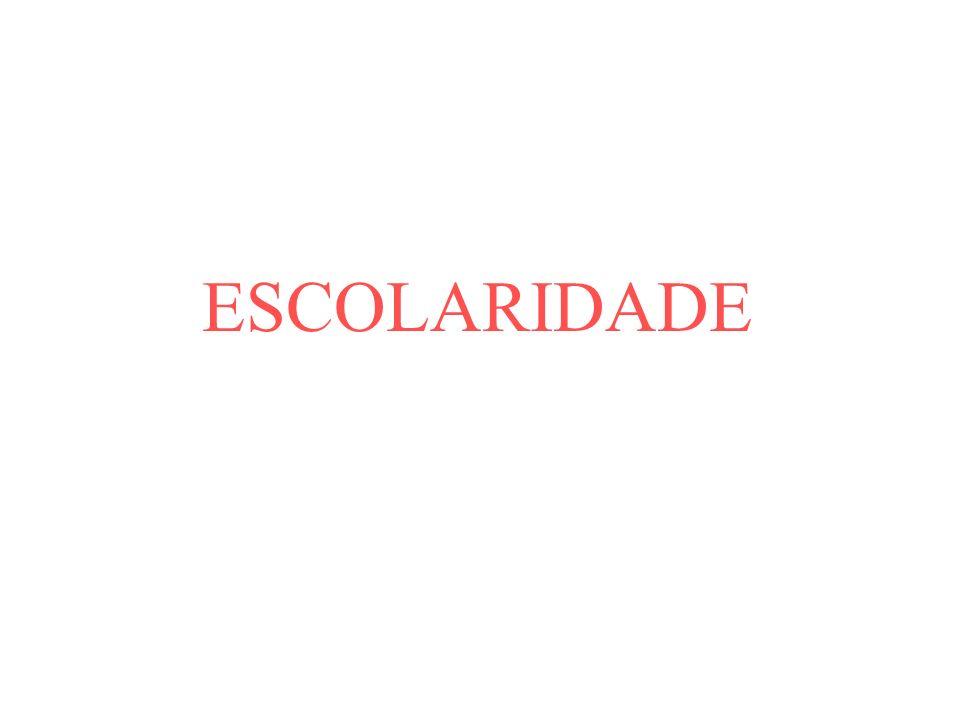 ESCOLARIDADE