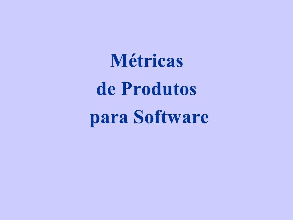 Taxonomia de Métricas Métricas para o modelo de análise Métricas para o modelo de projetos Métricas para código-fonte Métricas de teste