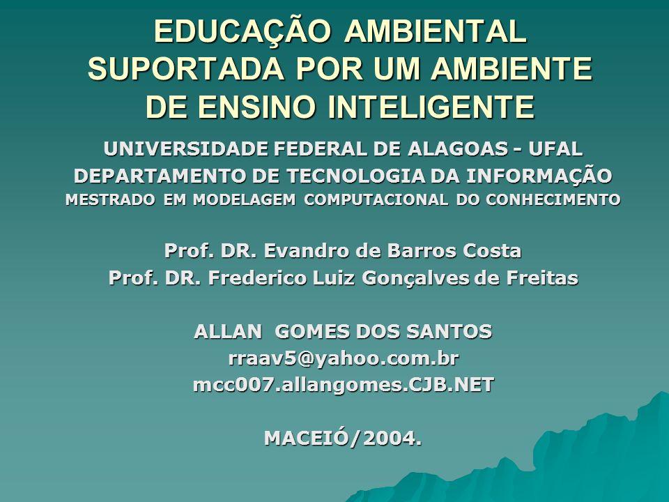 EDUCAÇÃO AMBIENTAL SUPORTADA POR UM AMBIENTE DE ENSINO INTELIGENTE UNIVERSIDADE FEDERAL DE ALAGOAS - UFAL DEPARTAMENTO DE TECNOLOGIA DA INFORMAÇÃO MESTRADO EM MODELAGEM COMPUTACIONAL DO CONHECIMENTO Prof.