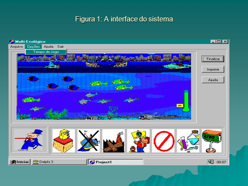 Figura 1: A interface do sistema