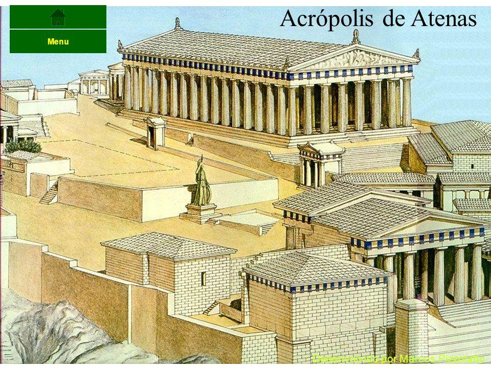 Acrópolis de Atenas Menu Desenvolvido por Marcos Pizzolatto