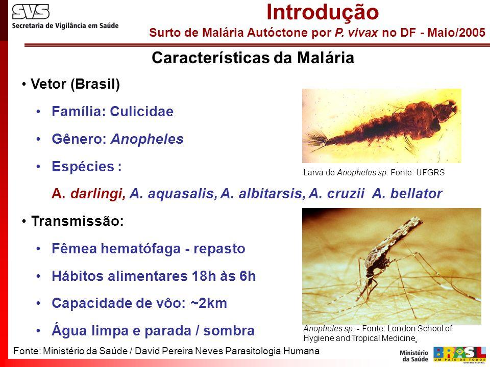 Surto de Malária Autóctone por P.