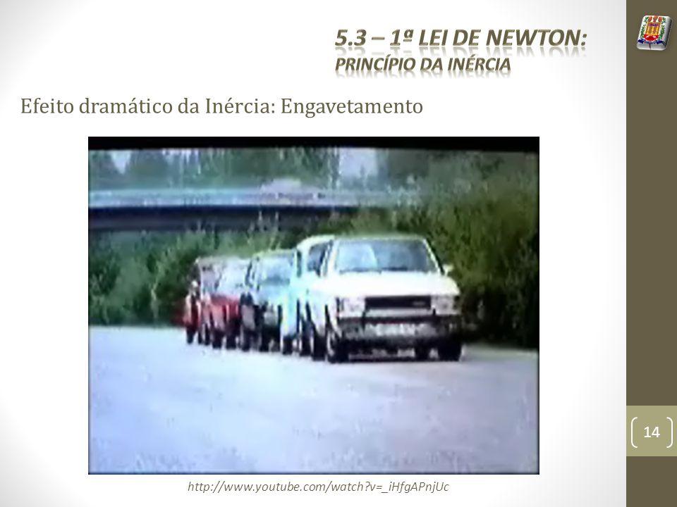 Efeito dramático da Inércia: Engavetamento http://www.youtube.com/watch?v=_iHfgAPnjUc 14