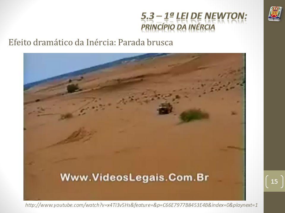 Efeito dramático da Inércia: Parada brusca http://www.youtube.com/watch?v=x4TI3v5Hs&feature=&p=C66E7977B8453E4B&index=0&playnext=1 15