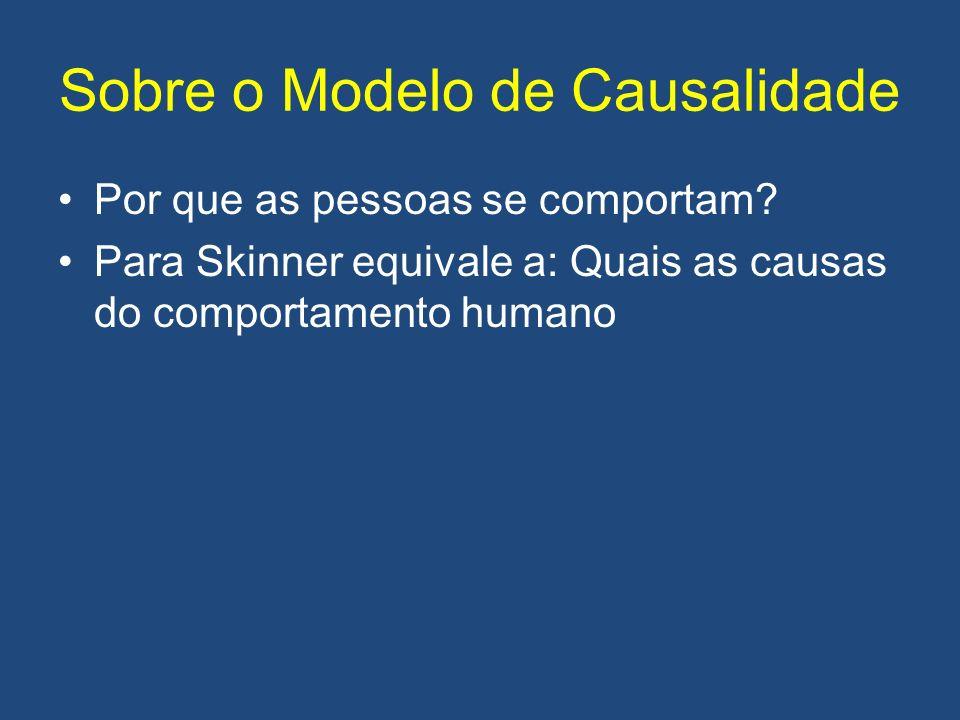 Sobre o Modelo de Causalidade Por que as pessoas se comportam.