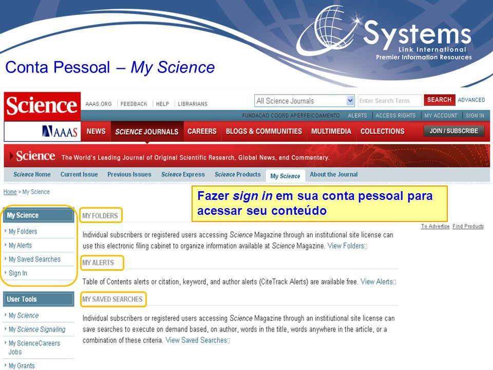 Conta Pessoal – My Science Fazer sign in em sua conta pessoal para acessar seu conteúdo