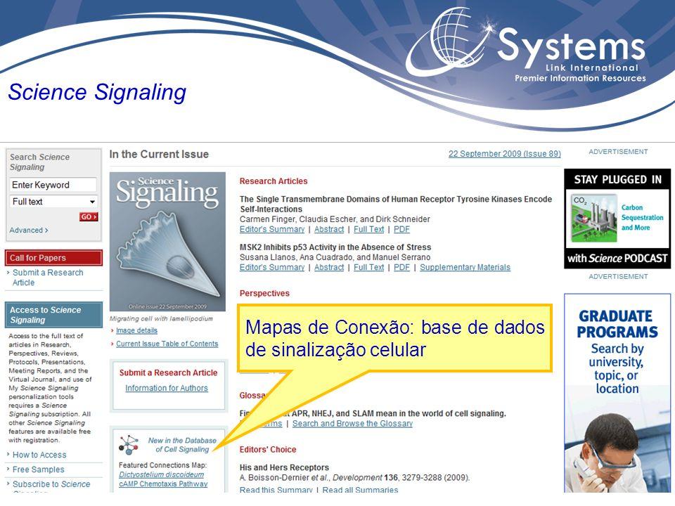 Mapas de Conexão: base de dados de sinalização celular Science Signaling