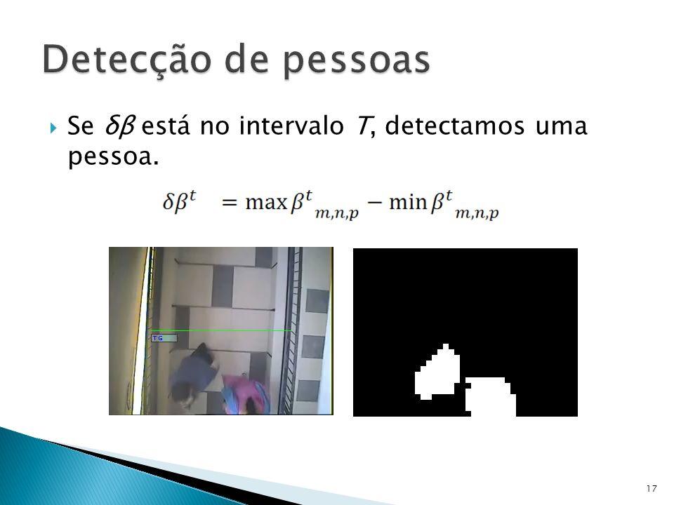 Se δβ está no intervalo T, detectamos uma pessoa. 17