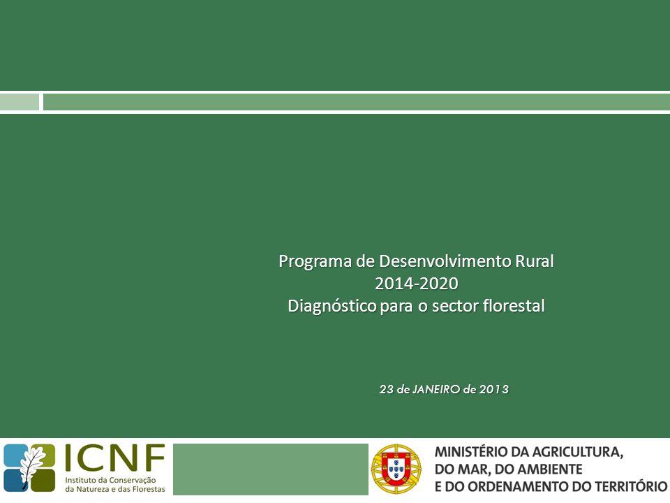 23 de JANEIRO de 2013 Programa de Desenvolvimento Rural 2014-2020 Diagnóstico para o sector florestal