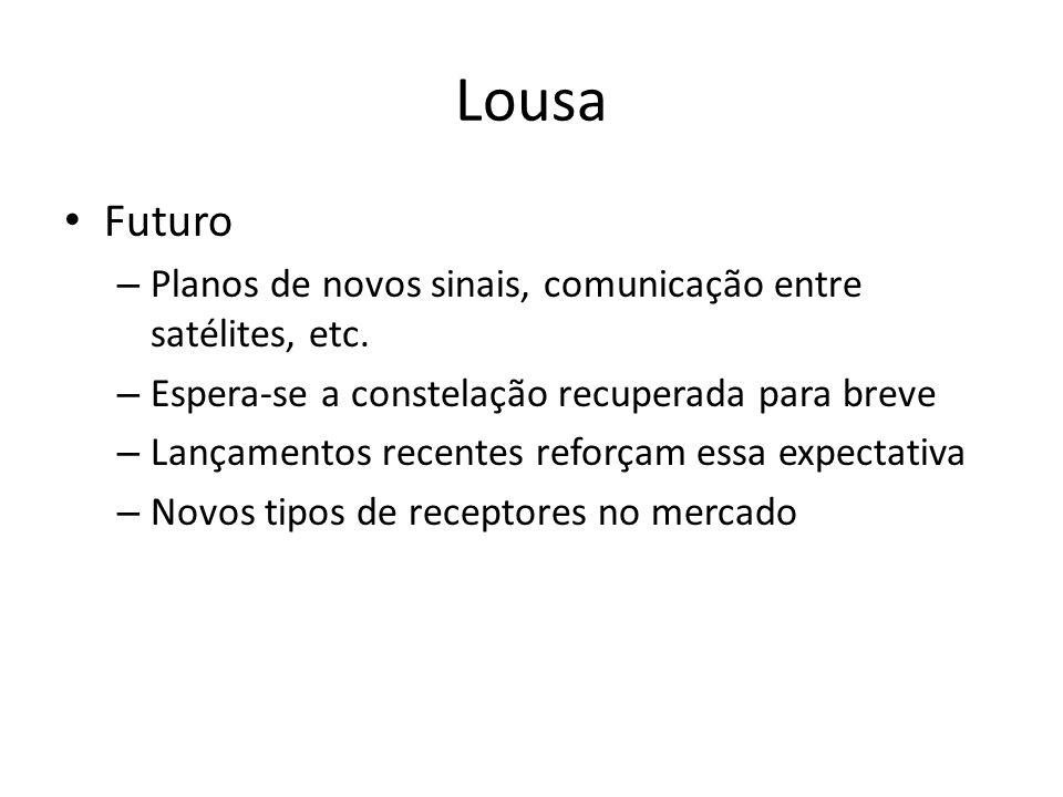 Lousa Futuro – Planos de novos sinais, comunicação entre satélites, etc.