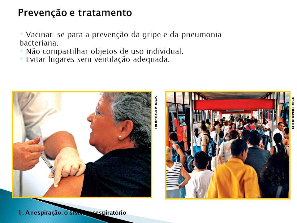 Prevenção e tratamento TIM BOYLE/GETTY IMAGES DELFIM MARTINS/PULSAR Vacinar-se para a prevenção da gripe e da pneumonia bacteriana. Não compartilhar o