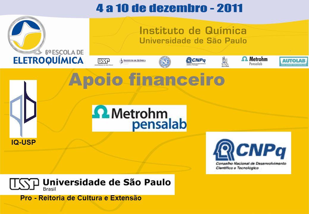 Apoio financeiro IQ-USP Pro - Reitoria de Cultura e Extensão