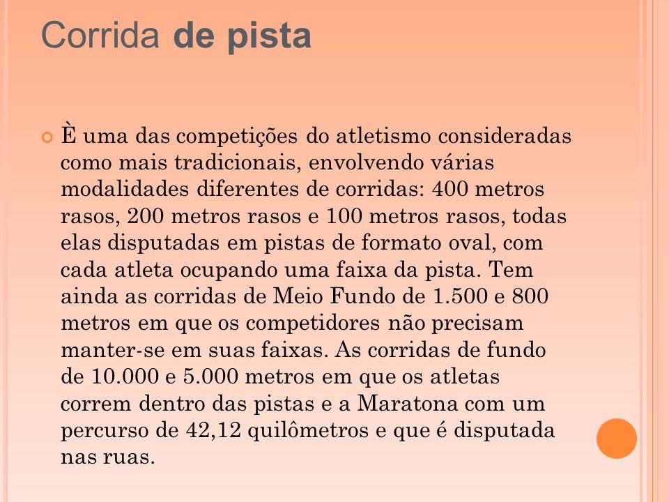 È uma das competições do atletismo consideradas como mais tradicionais, envolvendo várias modalidades diferentes de corridas: 400 metros rasos, 200 me