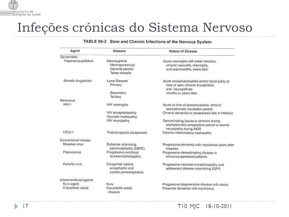 Infeções crónicas do Sistema Nervoso 18-10-201117T10 MJC