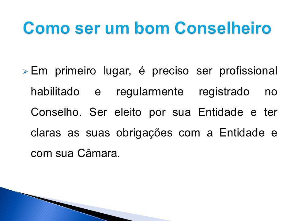 Em primeiro lugar, é preciso ser profissional habilitado e regularmente registrado no Conselho.