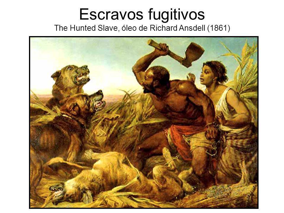 Escravos fugitivos The Hunted Slave, óleo de Richard Ansdell (1861)