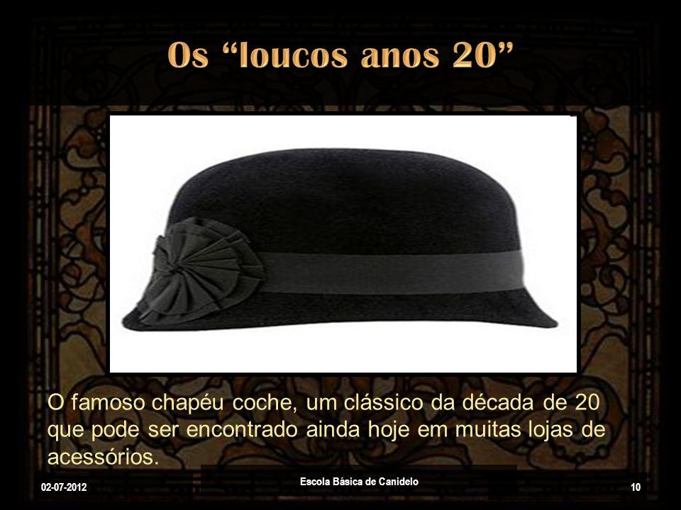 02-07-2012 Escola Básica de Canidelo 10 O famoso chapéu coche, um clássico da década de 20 que pode ser encontrado ainda hoje em muitas lojas de acess