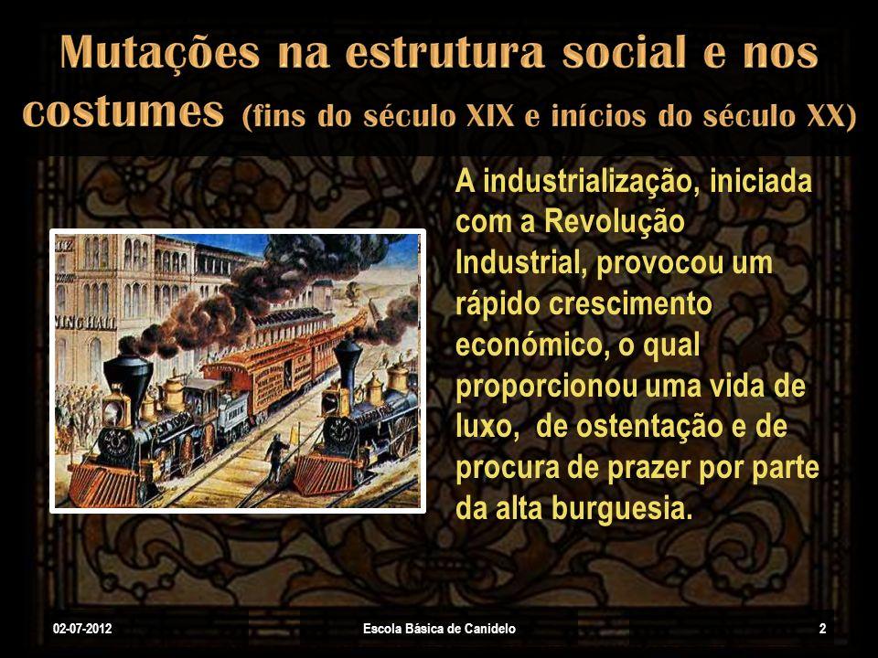 A industrialização, iniciada com a Revolução Industrial, provocou um rápido crescimento económico, o qual proporcionou uma vida de luxo, de ostentação
