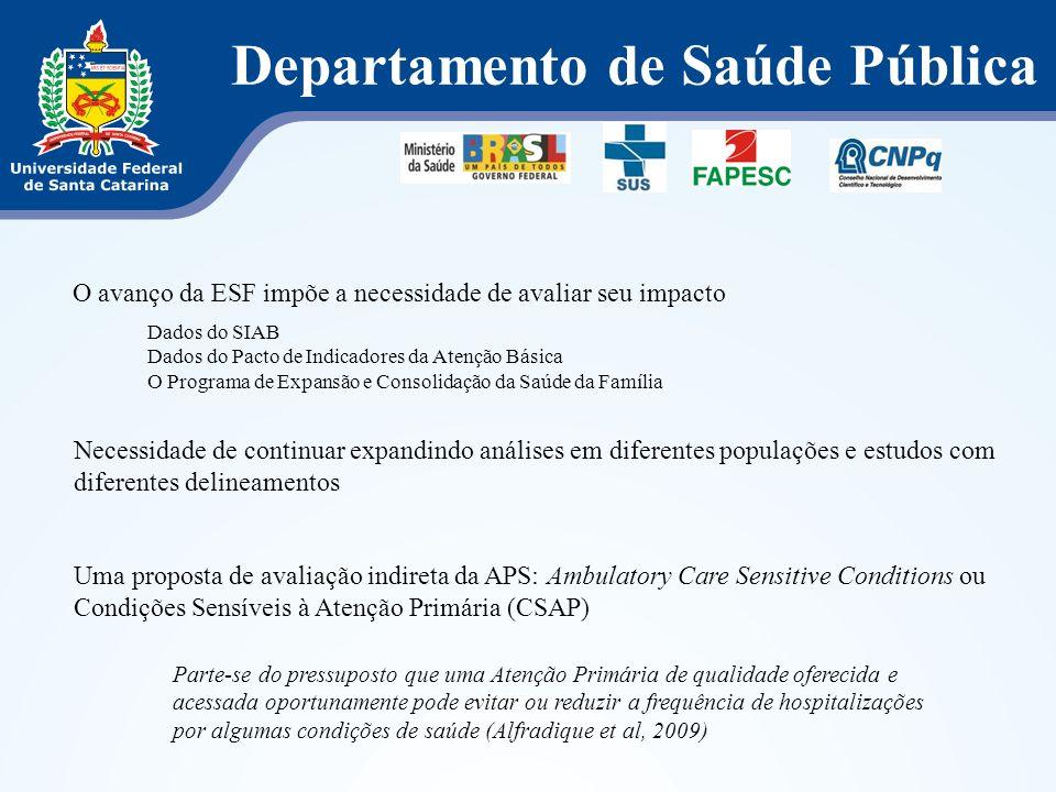 Departamento de Saúde Pública Informações obtidas num nível agregado (ecológico) e no nível individual são de suma importância para subsidiar políticas públicas na área.