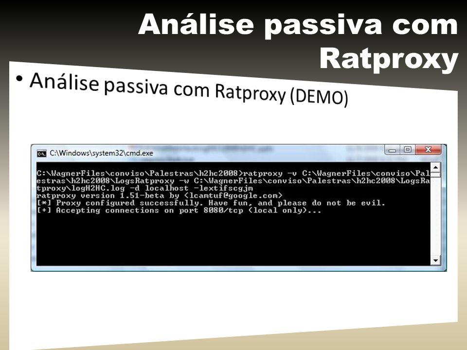 Análise passiva com Ratproxy