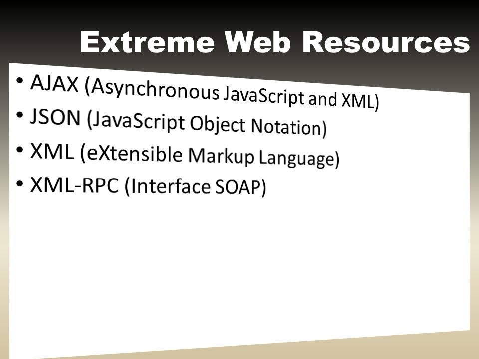 Extreme Web Resources