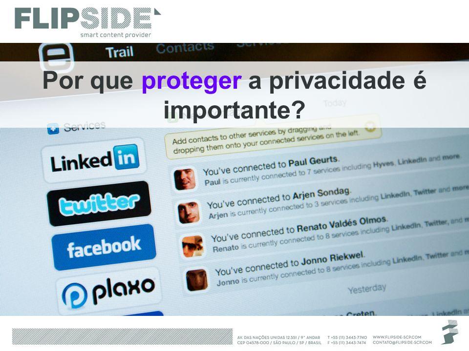 Por que proteger a privacidade é importante?